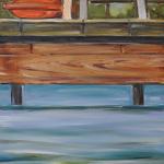 Krzesło 130 x 50 cm olej, płótno