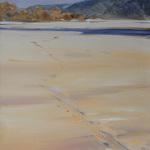 Ślady - piaszczysta wydma na Wiśle 90 x 60 cm olej, płótno