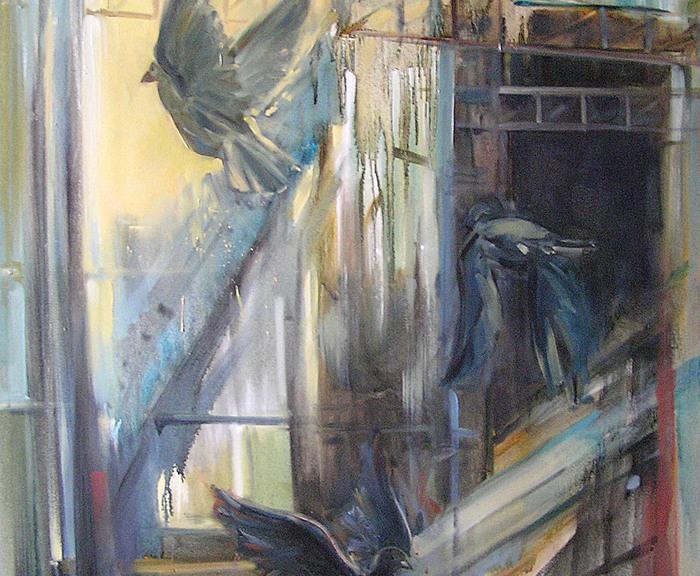 Hala Targowa w Katowicach  120 x 80 cm  olej, płótno