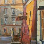 Lublin  61 x 46 cm  olej, płótno