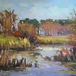 Rzeka Wieprz  46 x 61 cm  olej, płótno