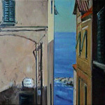 Cervo-Liguria 2014 r.  38 x 46 cm  olej, płótno